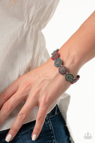 Bohemian Flowerbed - Multi Paparazzi Bracelet - Pink Dragon Jewels