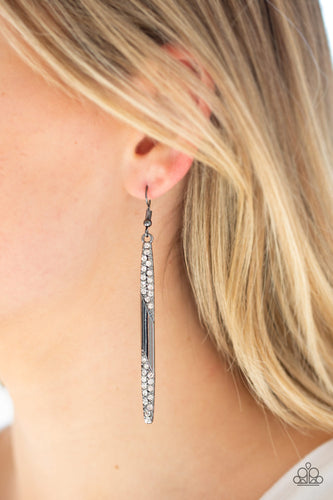 Award Show Attitude - Black Paparazzi Earring - Pink Dragon Jewels