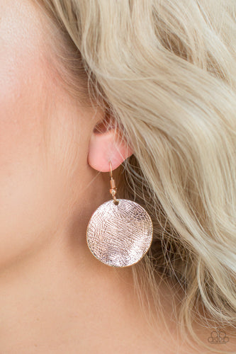 Basic Bravado - Rose Gold Paparazzi Earring - Pink Dragon Jewels