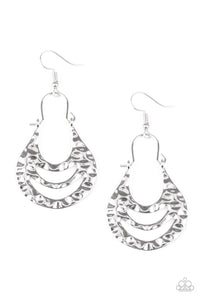 Hang ZEN! - Silver Paparazzi Earring - Pink Dragon Jewels