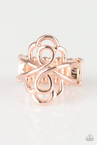 Ever Entwined - Gold Paparazzi Ring - Pink Dragon Jewels
