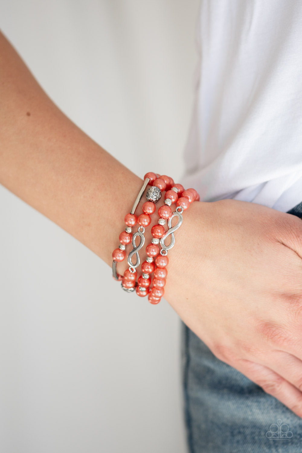 Limitless Luxury - Orange Paparazzi Bracelet - Pink Dragon Jewels