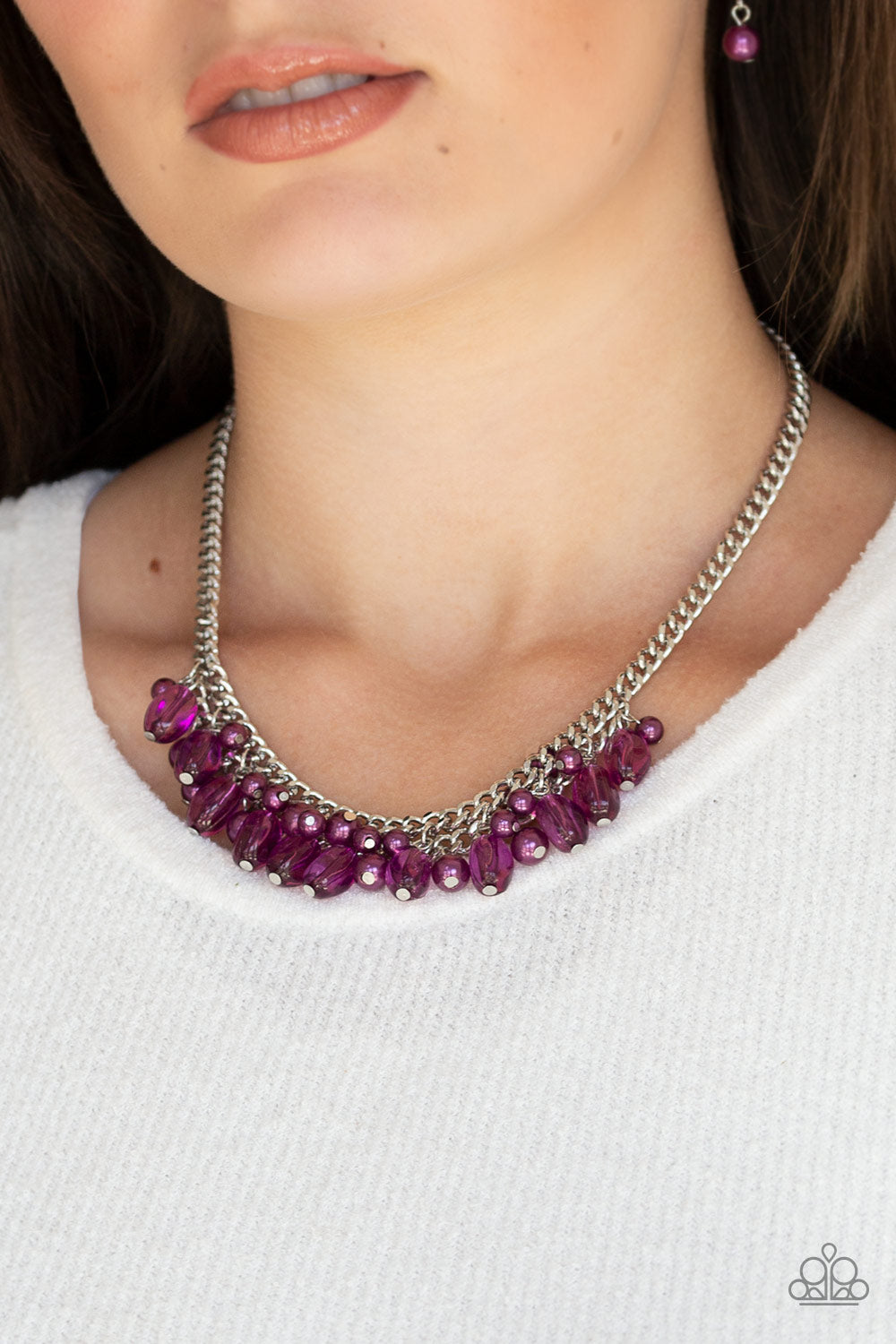 5th Avenue Flirtation - Purple Paparazzi Necklace - Pink Dragon Jewels