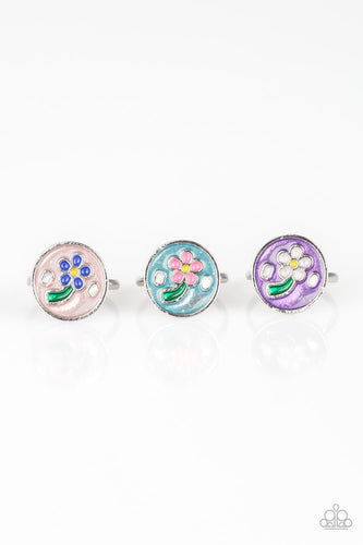 Spring Flower Rings - Paparazzi Starlet Shimmer - Pink Dragon Jewels