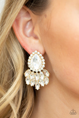 A Breath of Fresh HEIR - Gold Paparazzi Earring - Pink Dragon Jewels