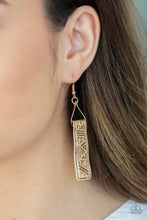 Load image into Gallery viewer, Ancient Artifacts - Gold Paparazzi Earring - Pink Dragon Jewels