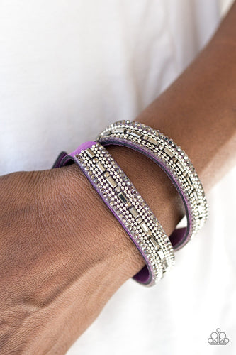 Shimmer and Sass - Purple Paparazzi Bracelet - Pink Dragon Jewels