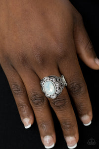 Floral Fairways - White Paparazzi Ring - Pink Dragon Jewels