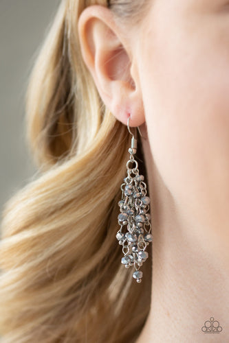 A Taste Of Twilight - Silver Paparazzi Earring - Pink Dragon Jewels