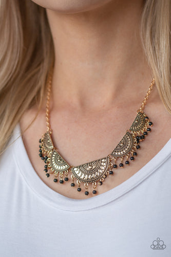 Boho Baby - Gold Paparazzi Necklace - Pink Dragon Jewels
