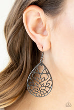 Load image into Gallery viewer, Lovely Lotus - Black Paparazzi Earring - Pink Dragon Jewels