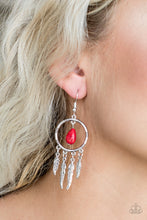 Load image into Gallery viewer, Southern Plains - Red Paparazzi Earring - Pink Dragon Jewels