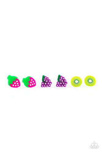 Fruit Post Earrings - Paparazzi Starlet Shimmer - Pink Dragon Jewels