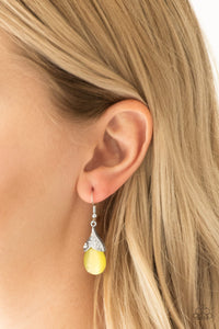 Spring Dew - Yellow Paparazzi Earring - Pink Dragon Jewels