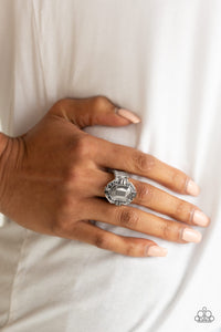 Outta My Way! - Silver Paparazzi Ring - Pink Dragon Jewels