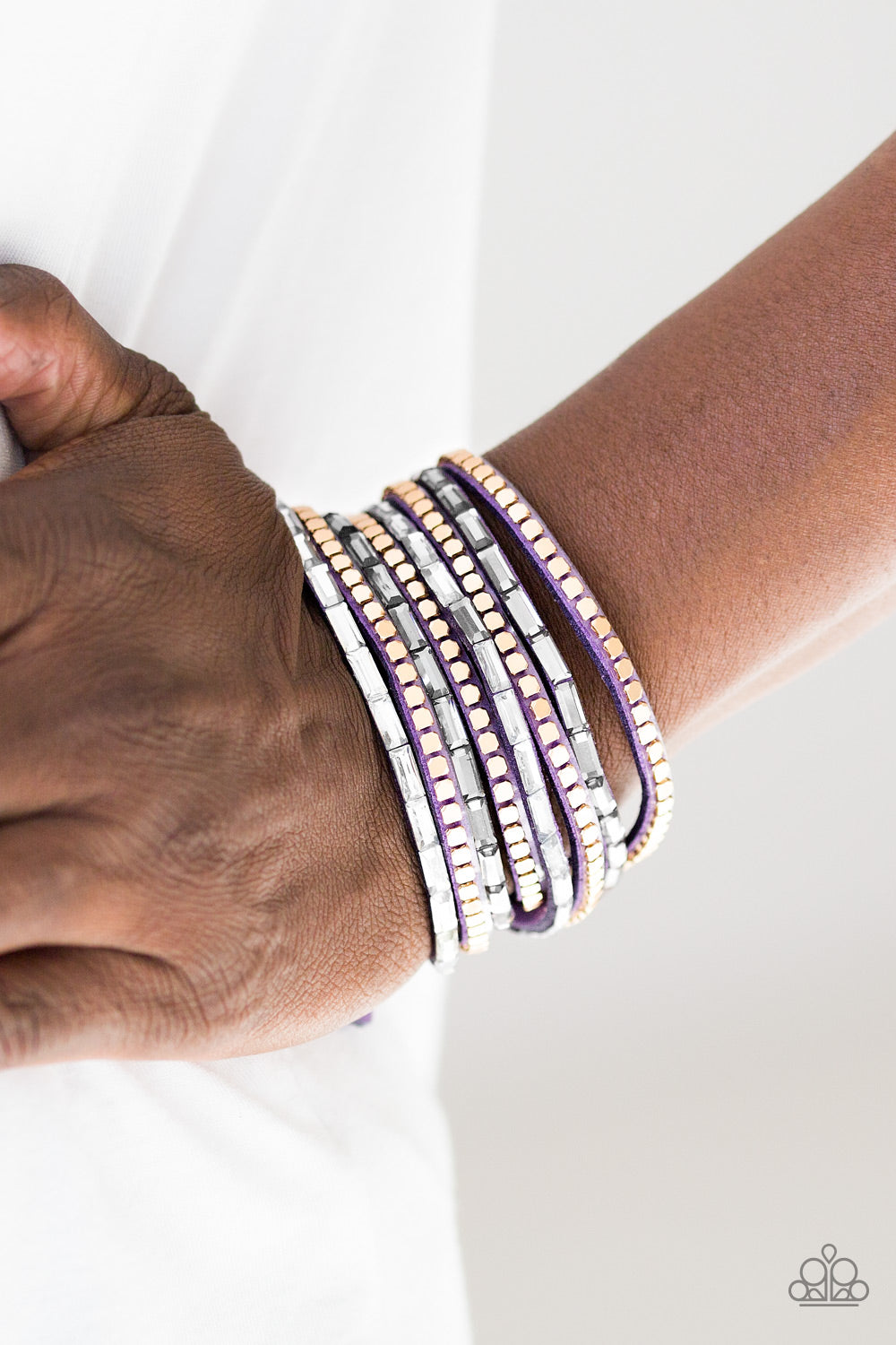 This Time With Attitude - Purple Paparazzi Bracelet - Pink Dragon Jewels