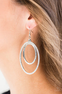 Wrapped In Wealth - White Paparazzi Earring - Pink Dragon Jewels