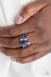 Modern Moonwalk - Blue Paparazzi Ring - Pink Dragon Jewels