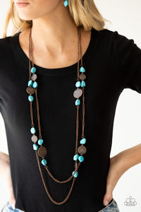 Mountain Movement - Copper Paparazzi Necklace - Pink Dragon Jewels