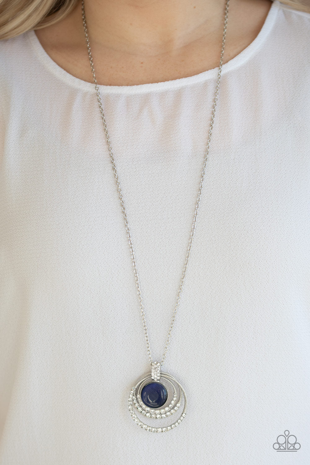 A Diamond A Day - Blue Paparazzi Necklace: April 2020 Life of the Party - Pink Dragon Jewels