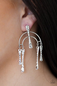 ARTIFACTS Of Life - Silver Paparazzi Earring - Pink Dragon Jewels