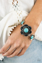 Load image into Gallery viewer, Badlands Blossom - Blue Paparazzi Bracelet - Pink Dragon Jewels