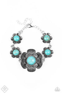 Badlands Blossom - Blue Paparazzi Bracelet - Pink Dragon Jewels