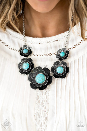 Bountiful Badlands - Blue Paparazzi Necklace - Pink Dragon Jewels