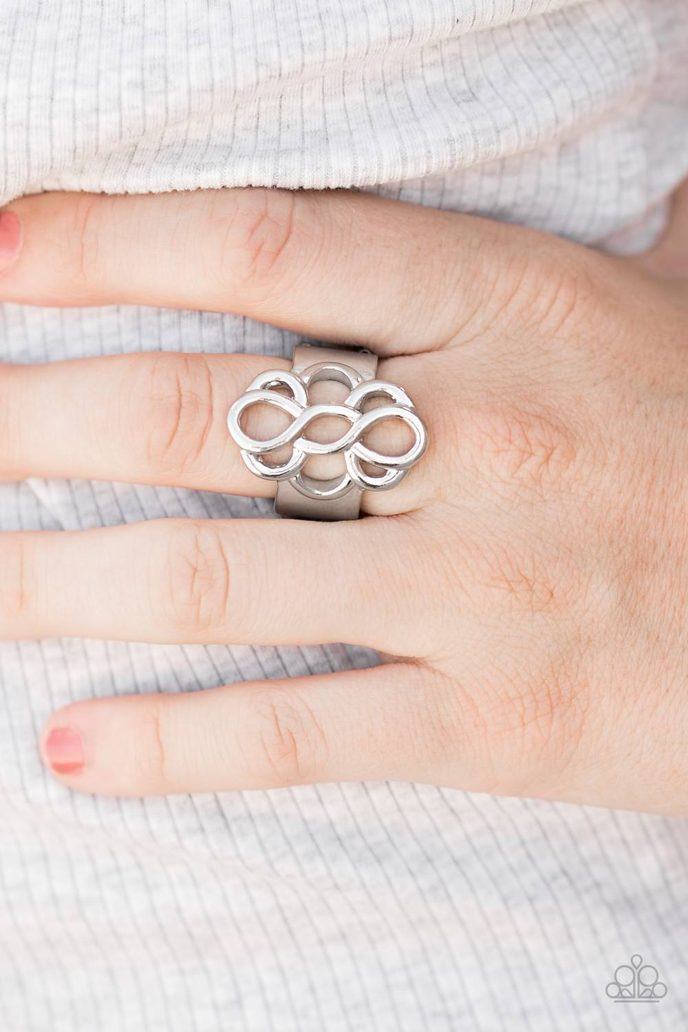 Breathe It All In - Silver Paparazzi Ring - Pink Dragon Jewels