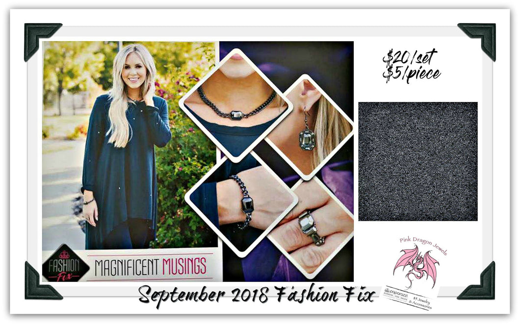 September 2018 Fashion Fix: Magnificent Musings - Complete Trend Blend - Pink Dragon Jewels