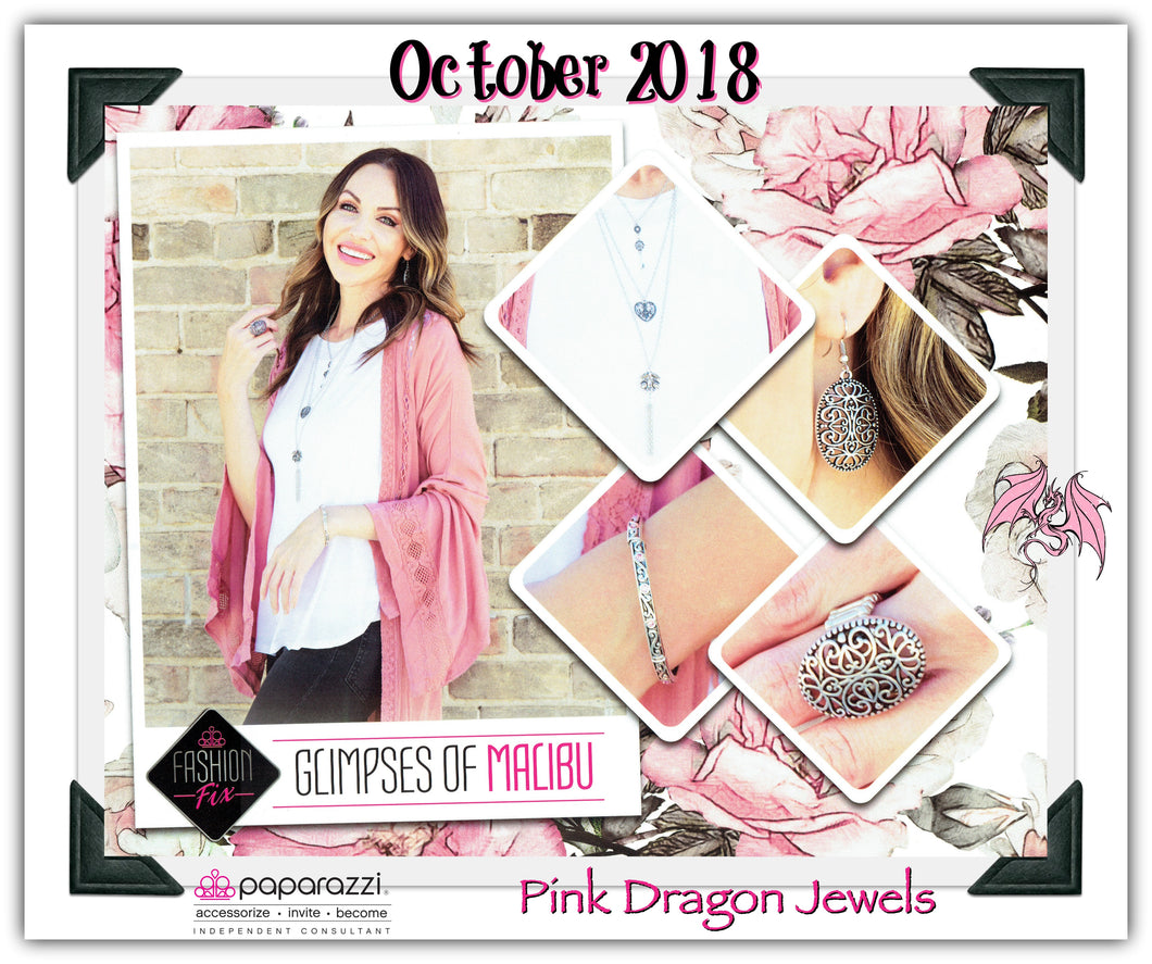 October 2018 Fashion Fix: Glimpses of Malibu - Complete Trend Blend - Pink Dragon Jewels