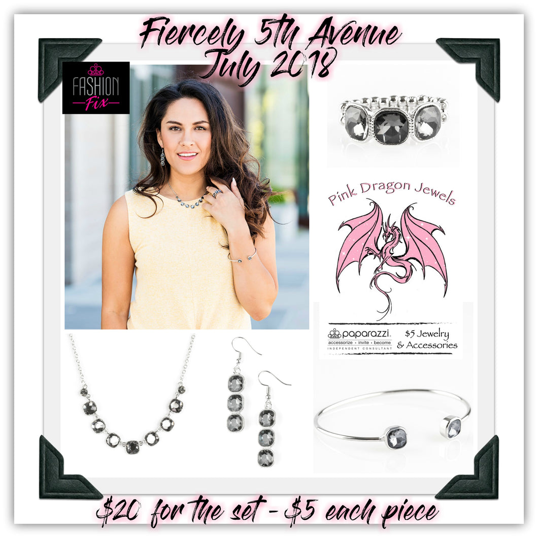 July 2018 Fashion Fix: Fiercely 5th Avenue - Complete Trend Blend - Pink Dragon Jewels