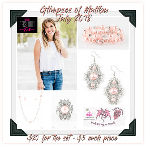 July 2018 Fashion Fix: Glimpses of Malibu - Complete Trend Blend - Pink Dragon Jewels