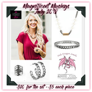 July 2018 Fashion Fix: Magnificent Musings - Complete Trend Blend - Pink Dragon Jewels