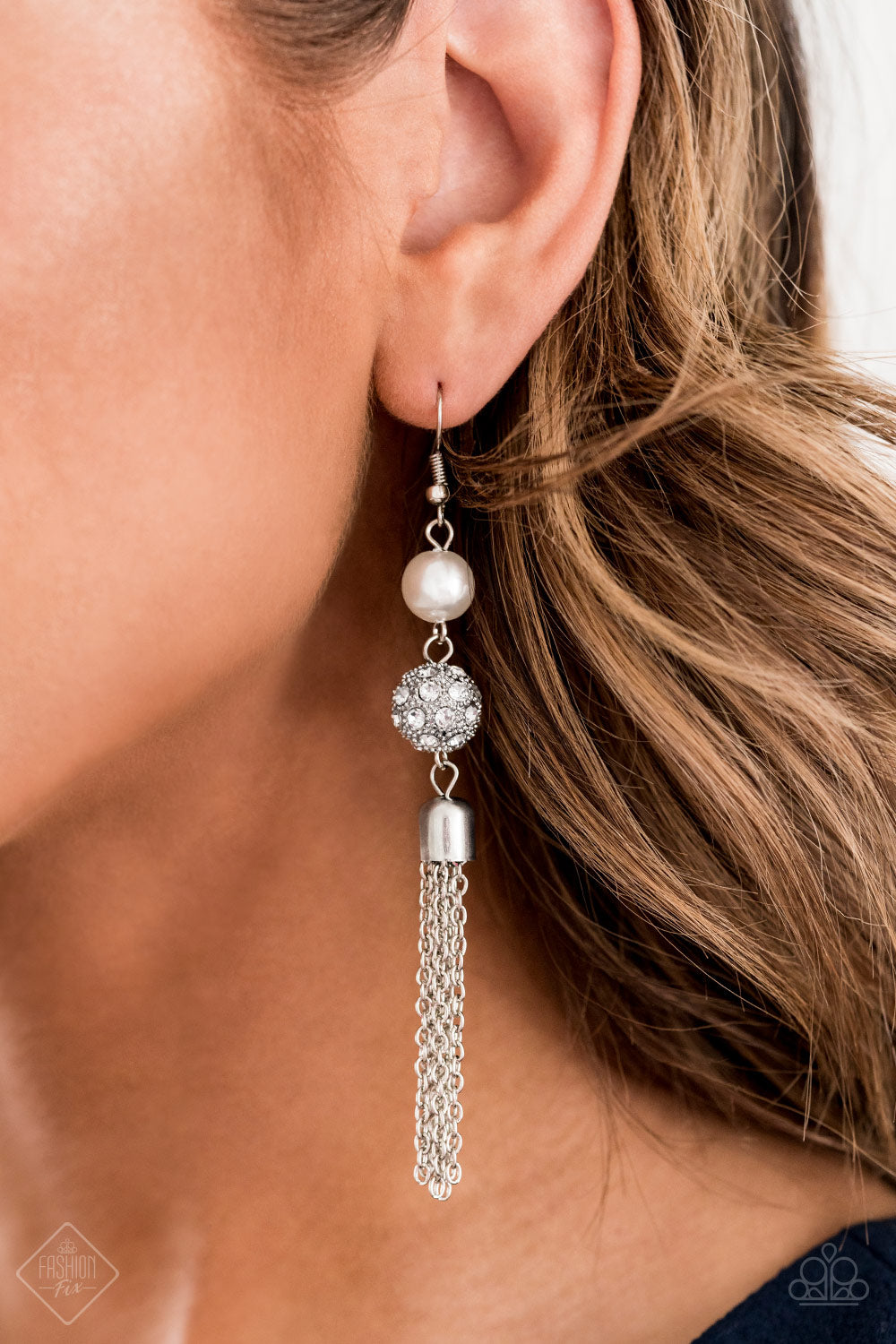 Going DIOR to DIOR - White Paparazzi Earring - Pink Dragon Jewels