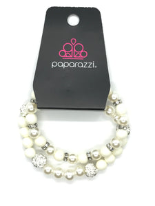 White pearl bracelet - Pink Dragon Jewels