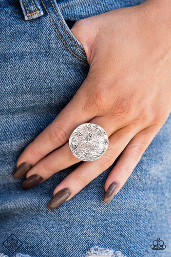Lined Up - Silver Paparazzi Ring - Pink Dragon Jewels