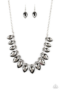March 2020 Life of the Party: FEARLESS is More - Silver Paparazzi Necklace - Pink Dragon Jewels