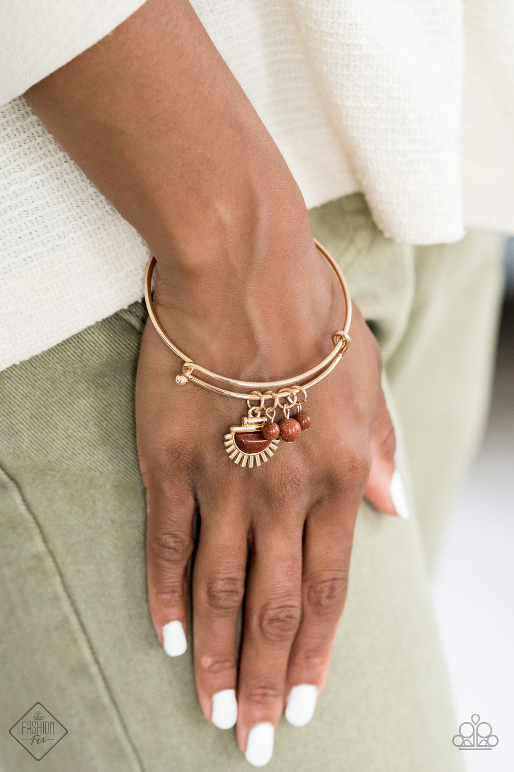 Mind, Body, and SOL - Gold Paparazzi Bracelet - Pink Dragon Jewels