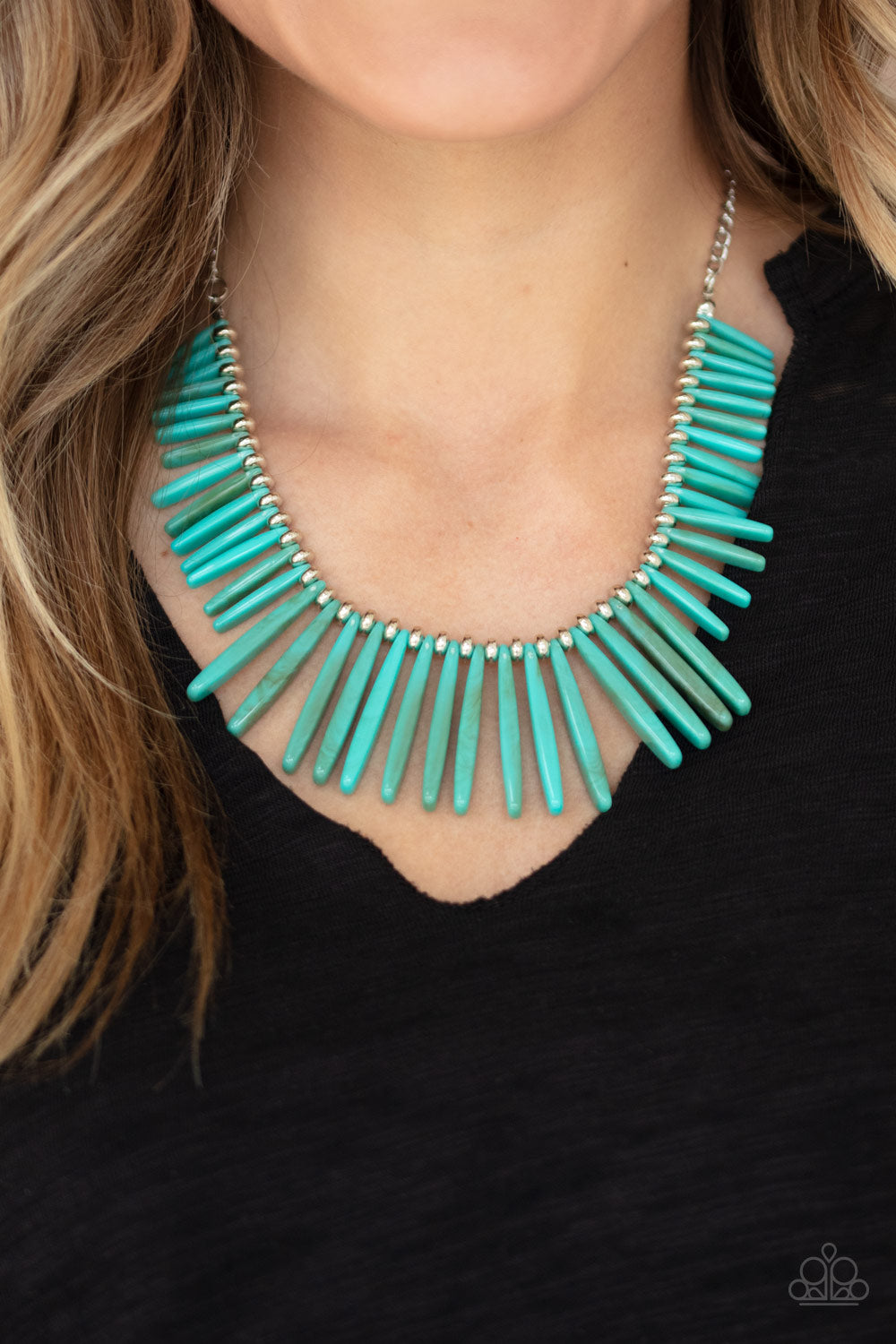 Out of My Element - Blue Paparazzi Necklace: July 2020 Life of the Party