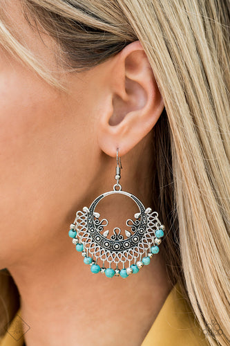 Canyonlands Celebration - Blue Paparazzi Earring - Pink Dragon Jewels