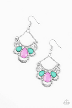 Load image into Gallery viewer, Caribbean Royalty - Multi Paparazzi Earring - Pink Dragon Jewels