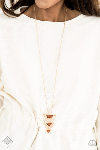Serene Sheen - Gold Paparazzi Necklace - Pink Dragon Jewels