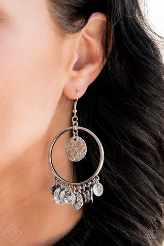 Start From Scratch - Silver Paparazzi Earring - Pink Dragon Jewels