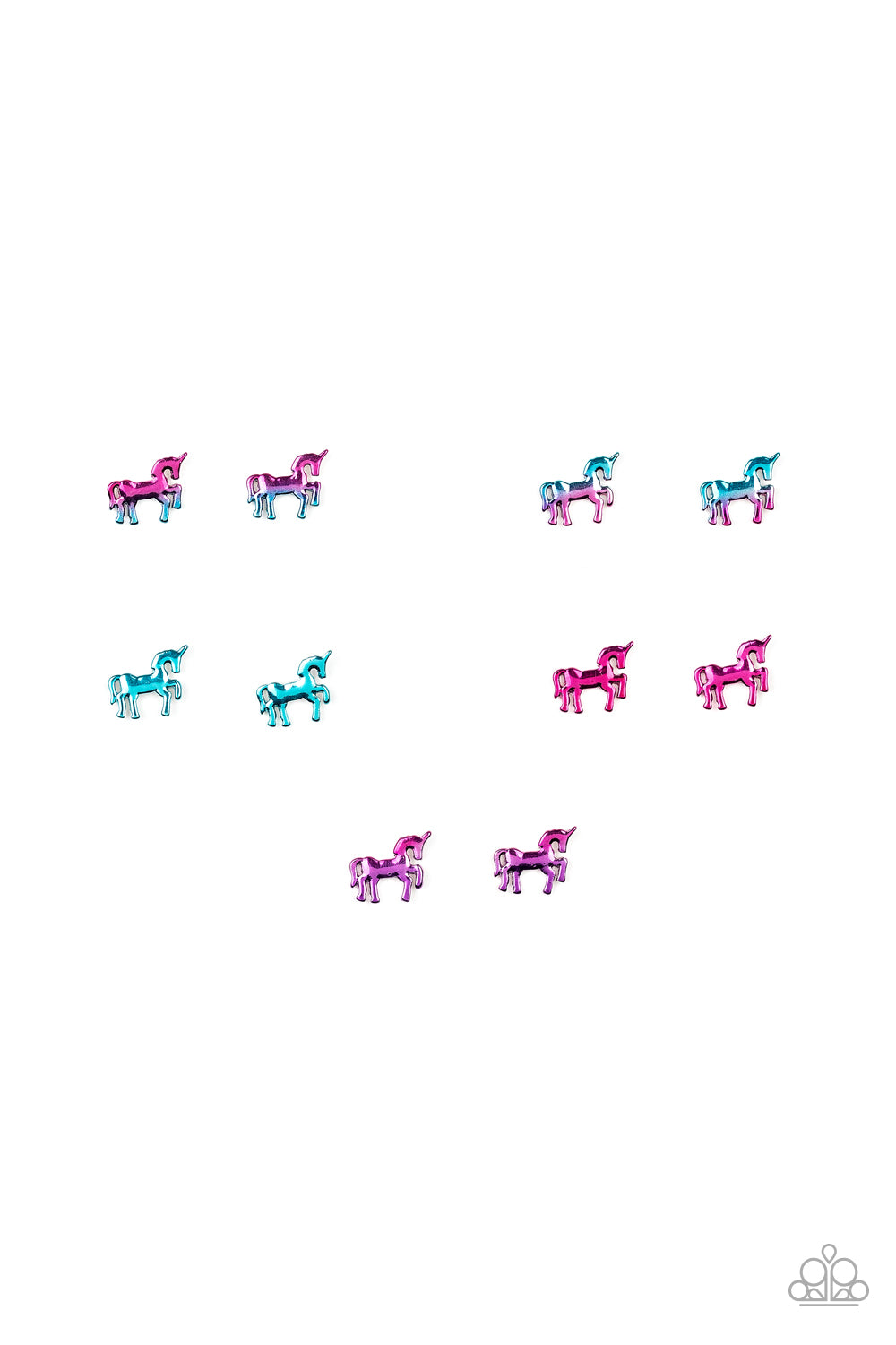 Unicorn Metallic Post Earrings - Paparazzi Starlet Shimmer - Pink Dragon Jewels