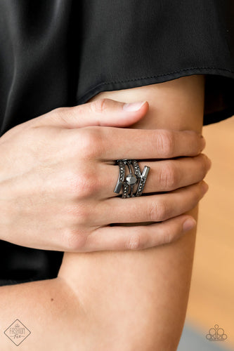 Well Played - Black Paparazzi Ring - Pink Dragon Jewels