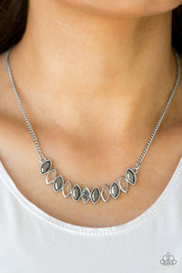 Get Your Money's Worth - Silver Paparazzi Necklace - Pink Dragon Jewels