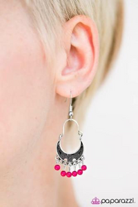 Hopelessly Houston - Pink Paparazzi  Earring - Pink Dragon Jewels