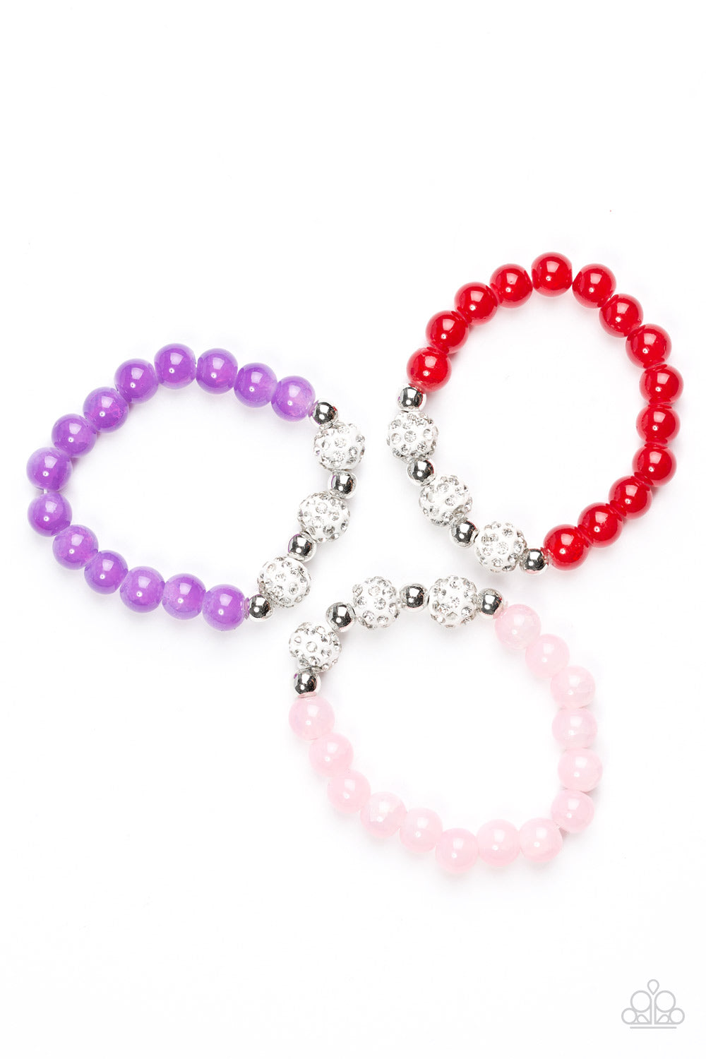 Sparkly Bead Bracelets - Paparazzi Starlet Shimmer - Pink Dragon Jewels