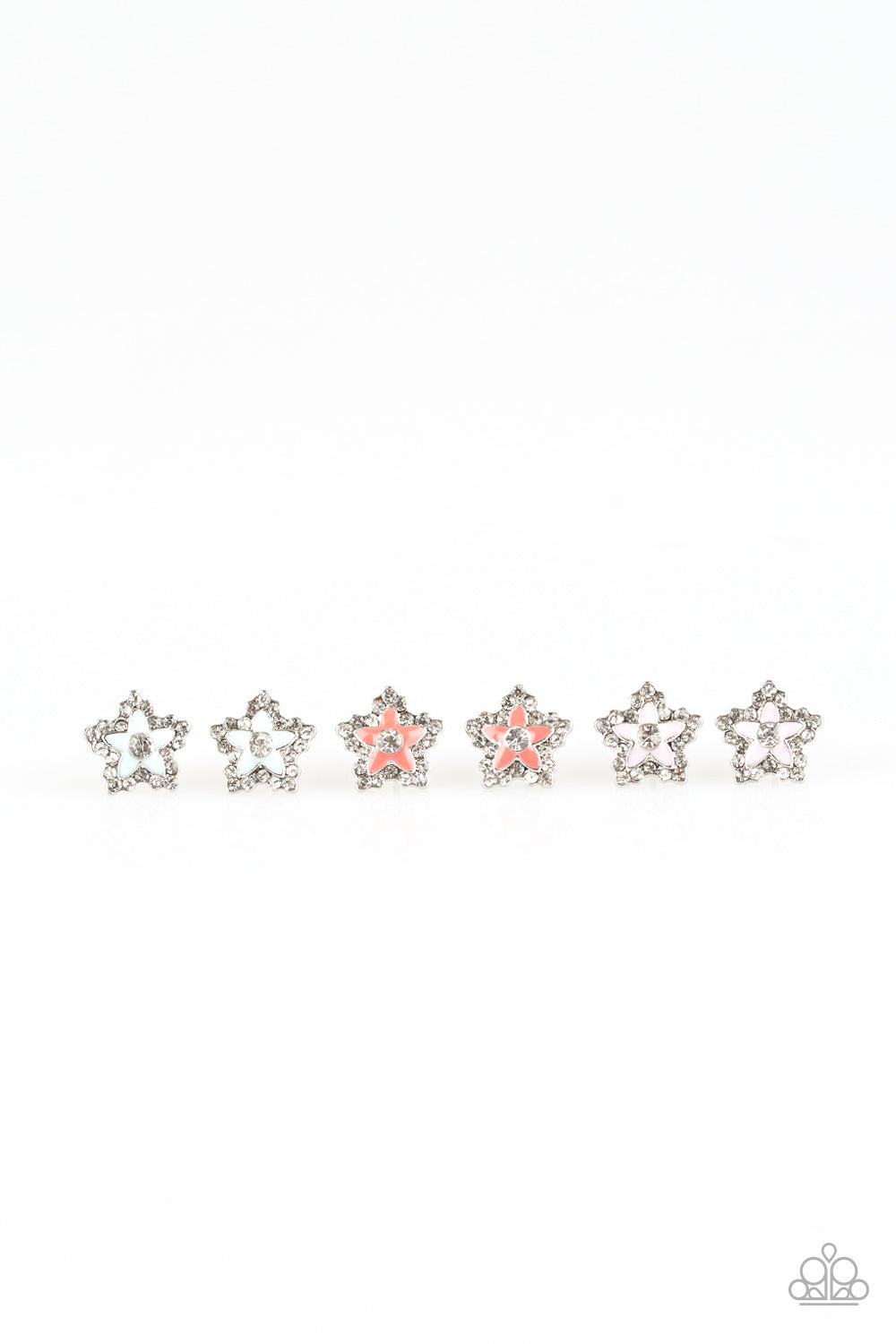 Sparkly Flower Earrings - Paparazzi Starlet Shimmer - Pink Dragon Jewels